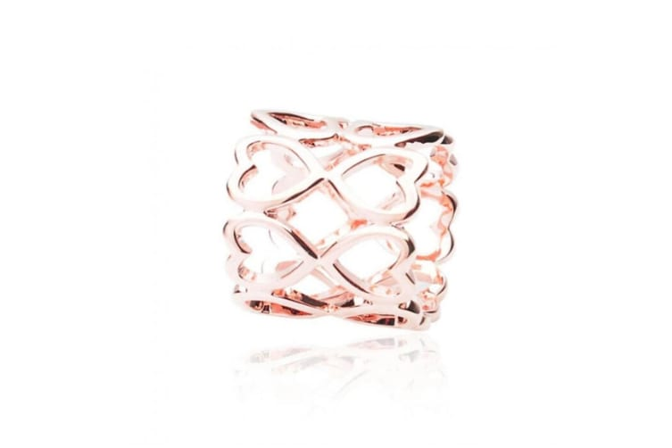 Intrigue Womens/Ladies Heart Scarf Ring (Rose Gold) (One Size)
