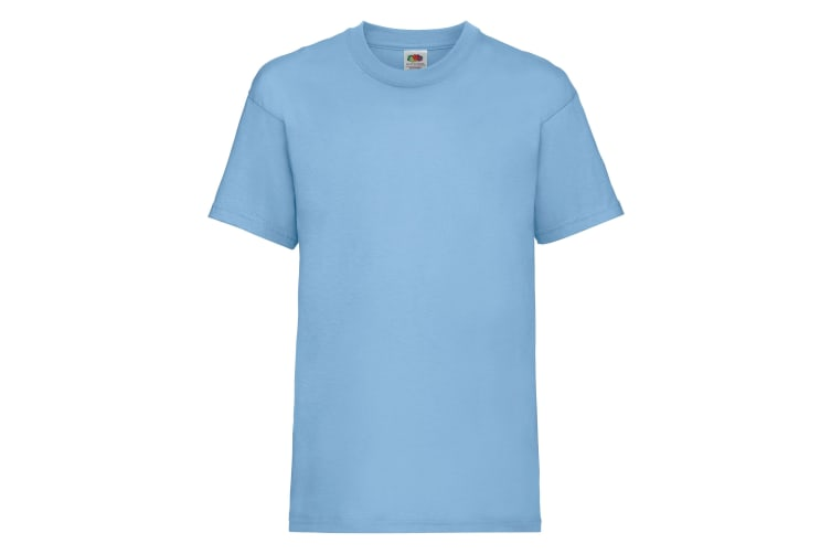 Fruit Of The Loom Childrens/Kids Unisex Valueweight Short Sleeve T-Shirt (Pack of 2) (Sky Blue) (2-3)