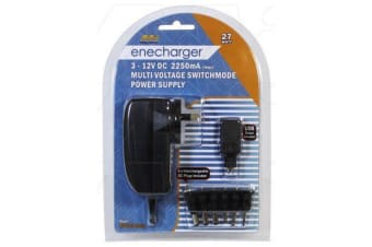 Enecharger 27W Power Supply 100-240VAC Input to Output at 2.25 Amp