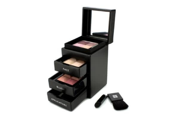 Givenchy Les Mini Prismes Travel Set (1x Yeux Quatuor, 1x Face Powder, 1x Powder Blush, 2x Applicator) (5pcs)