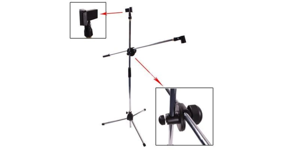tripod microphone stand boom folding type mic holder