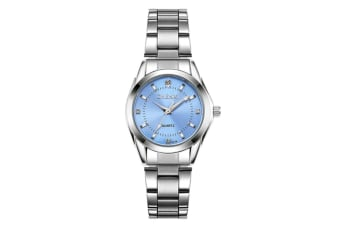 Women's Quartz Watch Stainless Steel  Wrist Watches Lightblue