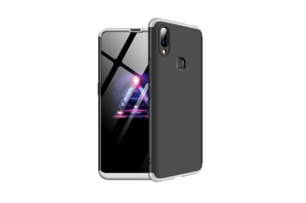 Frosted Shield Matte Ultra Thin Slim Shockproof Shell Cover For Vivo Silver+Black X23