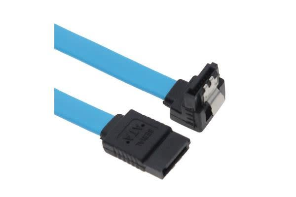 Astrotek SATA 3.0 Data Cable 50cm Male to Male 180 to 90 Degree with Metal Lock 26AWG Blue