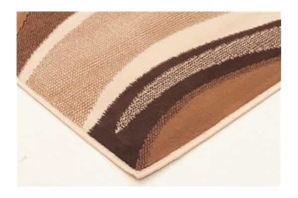 Modern Beige Brown Rug Wave Pattern 280x190cm