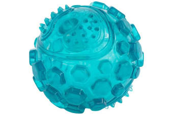 Zippy Paws Dog Squeaker Ball (Teal) (Small)