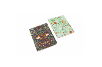 Seasons Greetings Robin Notebooks (Pack Of 2) (Multicoloured) (A6)