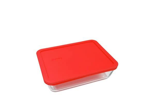 Pyrex Rectangle Storage 1.5L Red