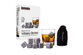 9pc Bartender Reusable Bar Whisky Cube Rocks Stones Cooler Drink Chiller Set