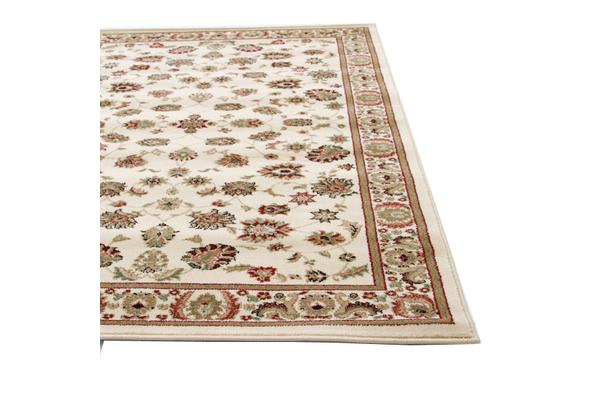 Traditional Floral Pattern Rug Ivory 230x160cm