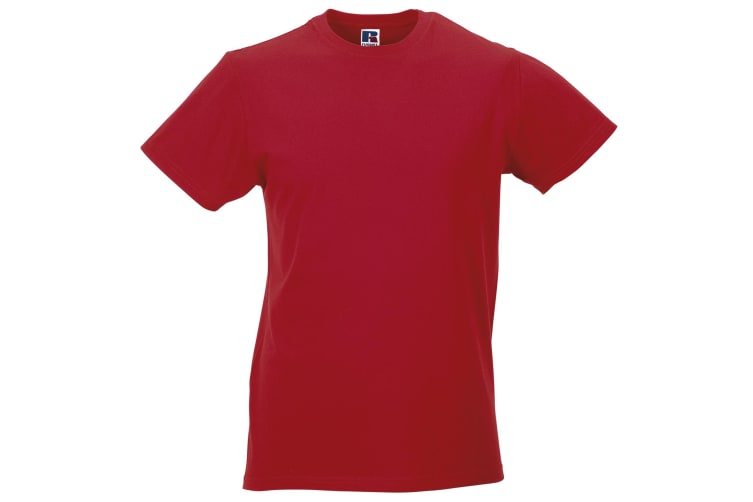 Russell Mens Slim Short Sleeve T-Shirt (Classic Red) (XL)