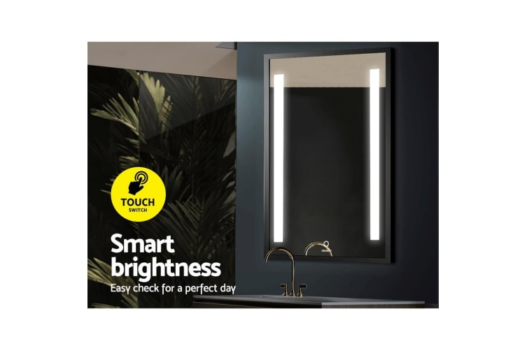 Devanti Bathroom Mirror LED With Light Wall Mirror Makeup Mirrors Vanity 70cm