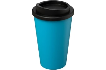 Americano 350ml Insulated Tumbler (Aqua Blue/Solid Black)
