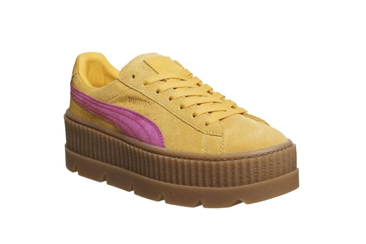 Puma X FENTY By Rihanna Womens/Ladies Cleated Suede Creepers (Lemon/Pink) (6.5 UK)