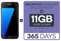 Samsung Galaxy S7 Edge (32GB, Black) + Kogan Mobile Prepaid Voucher Code: LARGE (365 Days | 11GB Per 30 Days)