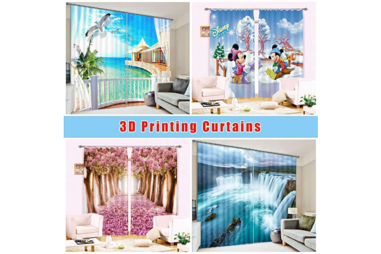 3D Boundless Misty Sea 341 Curtains Drapes, 264cmx160cm(WxH) 104''x 63''