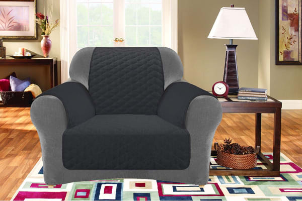 Custom Fit 1 Seater Sofa Protector - Slate