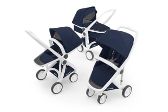 Greentom 3-in-1 Combo Stroller - Blue