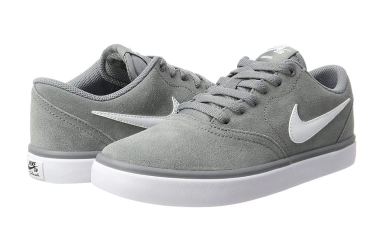 Nike SB Check Solarsoft Men's Skateboarding Shoe (Grey/White, Size 9 US)