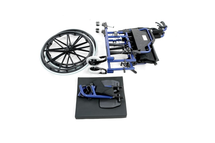 Orthonica Wheelchair Manual Mobility Aid-  Lincoln Blue