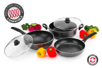 Ovela 5 Piece BlackStone Non-Stick Induction Cookware Set - Refurbished