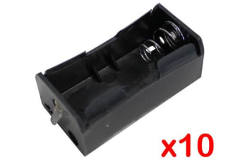 Digitor 'D' Terminal Battery Holder Solder Lug Positive Negative [Pack Of 10]