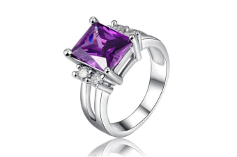 Silver Plated cubic zircon ring 8