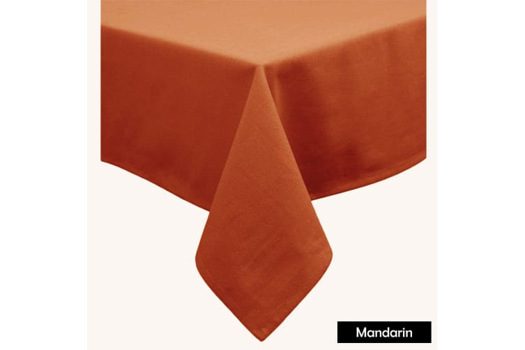 Cotton Blend Table Cloth Mandarin 160x260cm