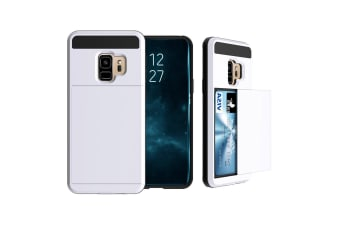 White Blade Armour Card Slot For Samsung Galaxy S9 Case
