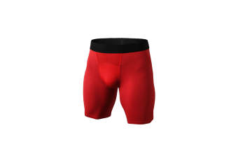 Men'S Compression Shorts Baselayer Cool Dry Sports Tights - Red Red L