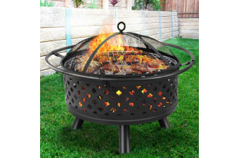 """Outdoor Fire Pit BBQ Grill Portable Wood Fireplace Patio Heater 30"""""""