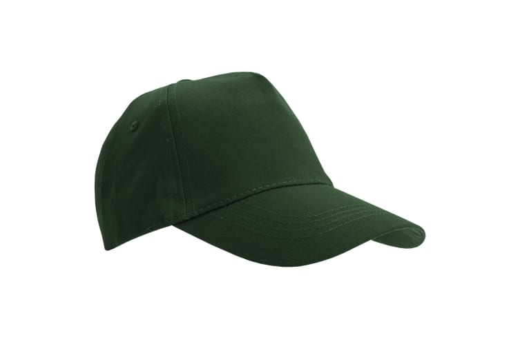 SOLS Unisex Buzz 5 Panel Baseball Cap (Forest Green) (ONE)