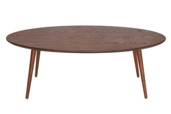 Stockholm Oval Wood Coffee Table | Walnut
