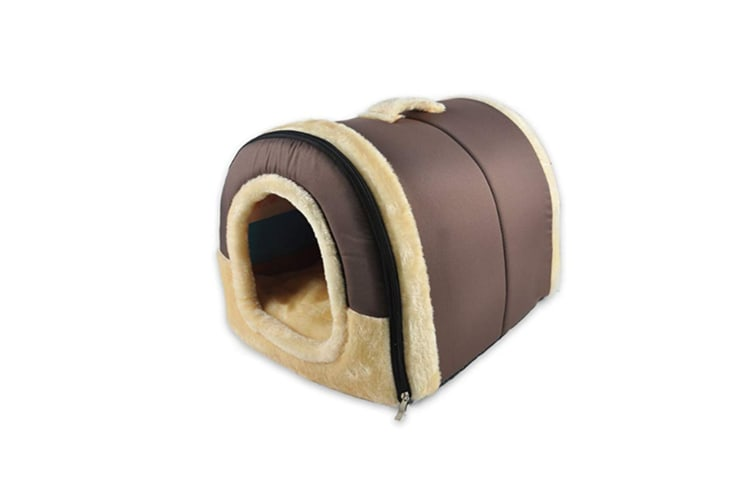 Foldable Cat Bed Cave|Non-Slip Petrabbit House With Detachable Cushion - 2 M