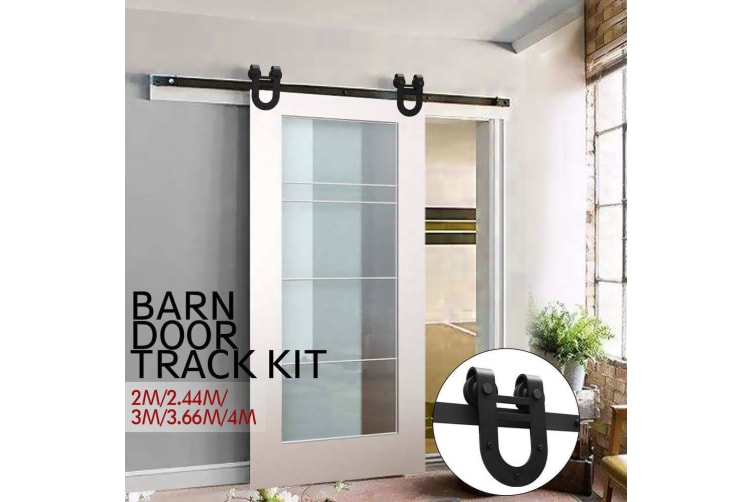 3.66M Antique Sliding Barn Door Hardware Track Set Track Roller Kit