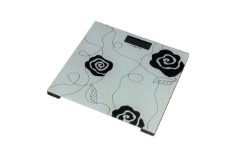 ACG Glass Electronic Personal Digital Scale 180kg Bathroom White/Black Rose