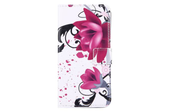For iPhone 8 PLUS 7 PLUS Wallet Case Lotuses Durable Protective Leather Cover
