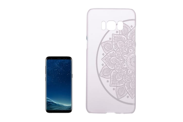 For Samsung Galaxy S8 Case Left Half Flower Mandala Transparent Protective Cover