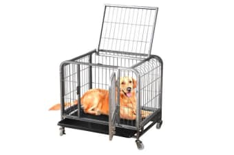 Multi-Size Heavy Duty Portable Dog Cage with Wheels Large