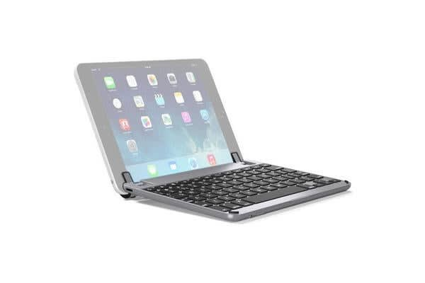 BRYDGE BrydgeMini II Keyboard - Wireless Connectivity - Bluetooth - Compatible with Tablet - Grey