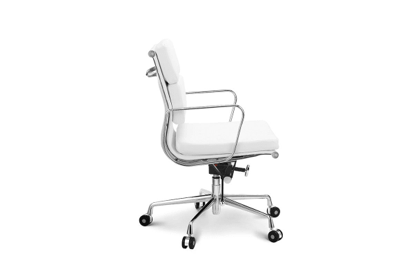 Ovela Executive Eames Replica Low Back Padded Office Chair (White)