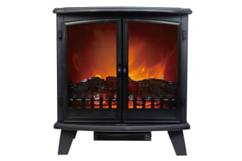 Heller 1800W 70cm Electric Fireplace Heater Freestanding Heating Flame Effect
