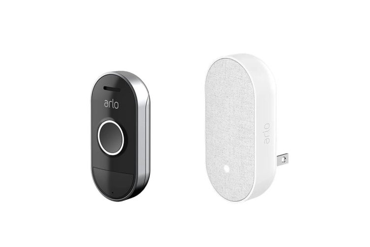 Arlo Smart Wire-Free Audio Doorbell + Arlo Chime Set