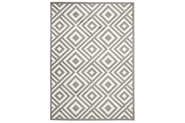 Indoor Outdoor Matrix Rug Grey 290x200cm
