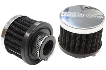 "Aeroflow 3/4"" Univ Clamp On Filter 2"" O.D,1-1/2"" H,Chrome Top"