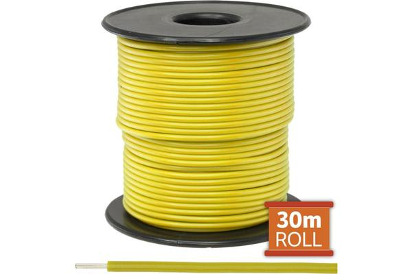Doss 30M Yellow Hookup Wire/Cable
