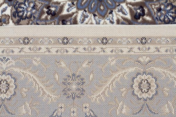 Medallion Runner White with Blue Border 400x80cm