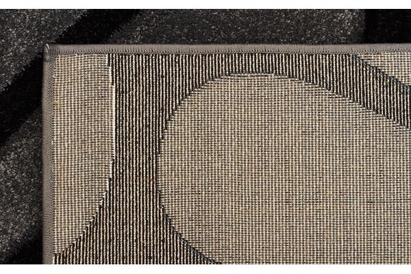 Cross Hatch Modern Rug Charcoal 290x200cm