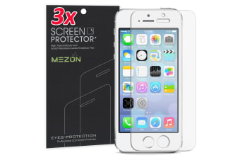 "[3 Pack] Apple iPhone SE / 5s (4.0"") Ultra Clear Screen Protector Film by MEZON – Case Friendly, Shock Absorption (iPhone SE, Clear)"