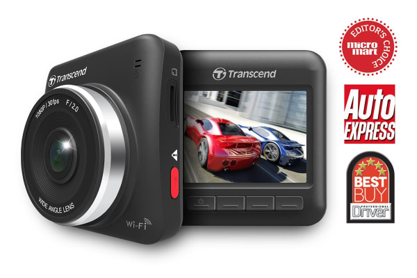 Transcend DrivePro 200 Dash Cam with Wi-Fi and FREE 16GB MLC Micro SD (TS16GDP200M)